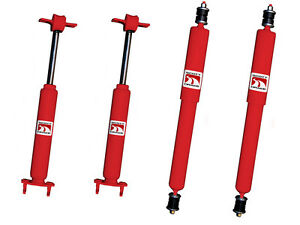 New 1965 1970 Ford Mustang Gas Charged Shock Shocks Front Rear Full Set Of 4