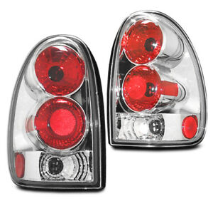 1996 2000 Dodge Caravan voyager 1998 2003 Durango Chrome Brake Tail Lights Pair
