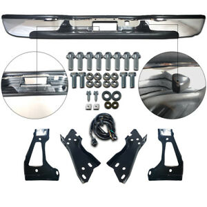 New Steel Chrome Step Bumper Assembly For Chevy Silverado Gmc Sierra 1500 99 06