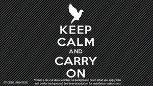 Keep Calm And Carry On With Dove Die Cut Vinyl Decal Sticker 3 X5 5 Peace 0098