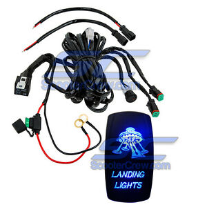 Blue Light Rocker Switch Wire Harness Sxs Polaris Ranger Rzr 1000 Rzr4 Crew 800