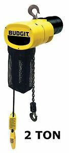 Cmco Budgit Behc Manguard Electric Chain Hoist 2 Ton Capacity 8 Fpm