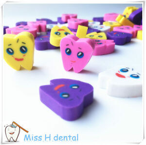 200pcs Molar Shaped Tooth Rubber Erasers Dentist Dental Clinic School Great Gift