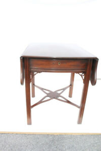 Lovely English Mahogany Pembroke Sofa Side Table By Virginia Galleries C 1960