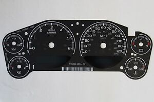 07 10 Factory Oem Gm Stock Speedometer Instrument Cluster Gauge Face Inlay Only