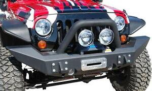 2007 2016 Jeep Wrangler Mbrp Front Full Width Winch Bumper Package Free Shipping