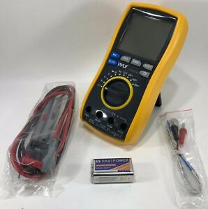 Pyle Pdmt38 Digital Lcd Ac Dc Volt Current Resistance Range Multimeter