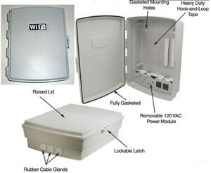 Waterproof Wifi Indoor Outdoor Weatherproof Enclosure Box W 120 Vac Power P