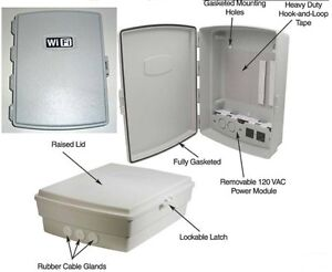 Waterproof Wifi Indoor Outdoor Weatherproof Enclosure Box W 120 Vac Power Panel
