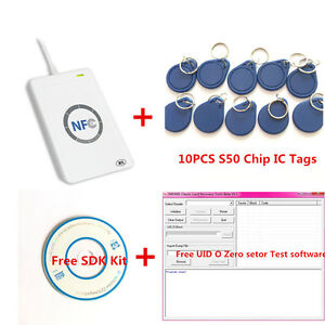 Acr122u Nfc Rfid Reader Writer For Uid Changeable Duplicate Clone S50 copy Tool