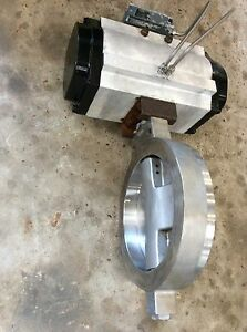 Bray 12 150 Ss Pneumatic Actuated Butterfly Valve 285 100f