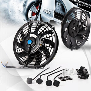 9 Universal Slim Pull Push Racing Electric Radiator Engine Cooling Fan