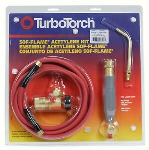 New Turbotorch 0386 0090 Wsf 4 Torch Kit Sof flame For B Tank Air Acetylene