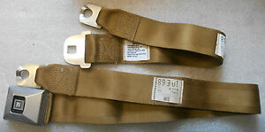 1969 G M Deluxe Gold Seat Belt 10 E 68 Date Nos Gm