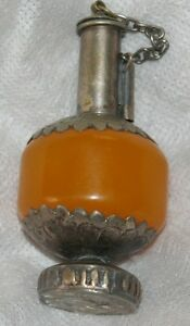 Antique Sterling Silver Bottle W Cover Novelty Figural Free U S Ship