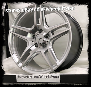 19 X8 5 19x9 5 Staggered Silver Mercedes Amg Oe Replica Rims Double Spoke 5x112