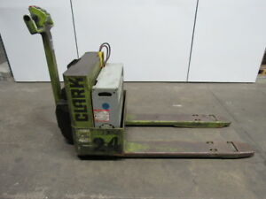 Clark Wp40 Pallet Jack Walkie Walk Behind 4000lb Cap Fork Lift Good Battery