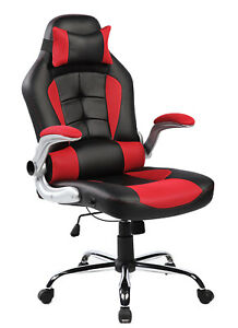 Merax Pu Leather High Back Ergonomic Office Chair Executive Racing Gaming Chair
