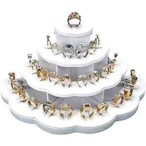 White Ring Display Holds 29 Rings Jewelry Stand Beautiful Contemporary Display