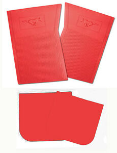 New 1965 1973 Ford Mustang Red Floor Mats Molded Rubber Set Of 4 Front And Back