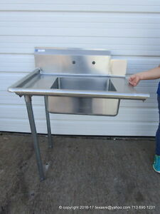 New Stainless Steel Soiled Dirty Left Side Dish Table 36 16ga Nsf