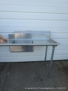 New Stainless Steel Soiled Dirty Right Side Dish Table 48 16ga Nsf