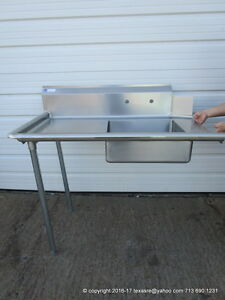 New Stainless Steel Soiled Dirty Left Side Dish Table 48 16ga Nsf