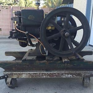 Original Antique 1927 Mccormick Deering Ihc 1 1 2 Hp Mogul Stationary Gas Engine