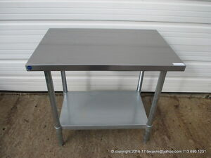 New Stainless Steel Work Prep Table 36 X 24 Nsf
