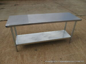New Stainless Steel Work Prep Table 72 X 24 Nsf
