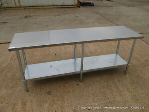 New Stainless Steel Work Prep Table 84 X 24 Nsf