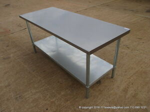 New Stainless Steel Work Prep Table 72 X 30 Nsf