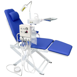 Dental Portable Chair Unit With Led Lamp Turbine Unit 4h Waste Basin