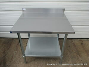 New Stainless Steel Work Prep Table 36 X 30 With Back Splash Nsf