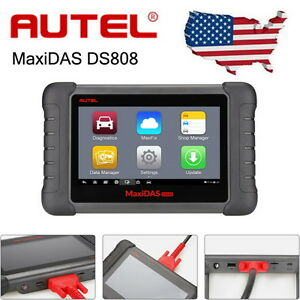 Us Autel Maxidas Ds808 Automotive Diagnostic Scanner Tool Key Coding Free Update