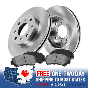 Front 241 Mm Brake Rotors And Metallic Pads Kit For 2003 2005 Hyundai Accent