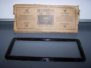 Antique Hubbell Replacement Rear Window Glass Black Enamel Frame Model T