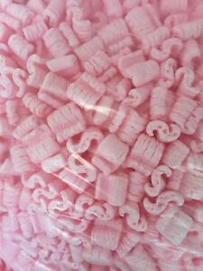 Packing Peanuts Loose Fill Anti Static Pink 16 Cubic Feet 120 Gallons Brand New