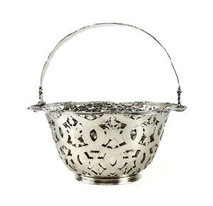 Tiffany Co Makers Sterling Silver Flower Basket 16201 John C Moore