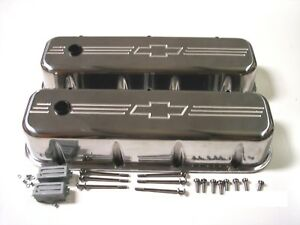 Big Block Chevy Bow Tie Aluminum Valve Covers Tall 396 402 427 454 502