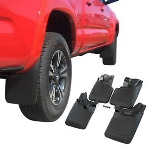 Fits Tacoma Mud Flaps 2016 2020 Mud Guards Splash Flares 4 Piece Front Rear