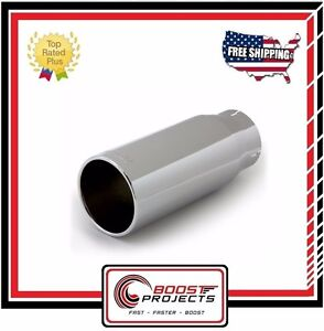 Banks Power Tailpipe Tip Kit Round Straight Cut Chrome 4in Tube 5in X 12 52930