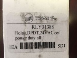 Rly01388 Trane Relay Dpdt 24vac Coil Power Duty All new