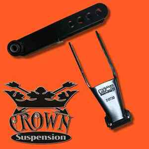 Crown Suspension 2 3 Lowering Drop Shackles Kit Rb Bushing For 01 10 Silverado