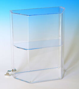 Acrylic Display Case Display With Shelves Locking Showcase Countertop Case