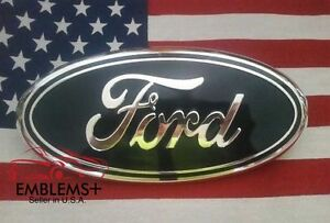 2004 2014 Ford Tailgate Or Grille 9 Emblem Factory Blue 3d With Alignment Post