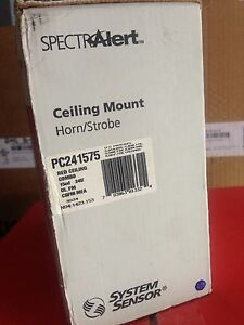 System Sensor Spectralert Ceiling Strobe horn 15cd 24v Red Pc241575