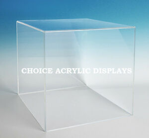 Large Box Case Acrylic Cube Display Large Collectible Cover Box Stand