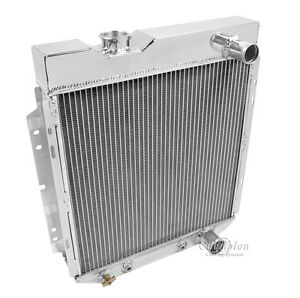 1964 1965 1966 Ford Mustang 2 Row Rr Radiator For V8 Engine