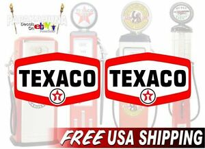 2 Texaco 1960 S Gasoline Vintage Gas Pump Decals Station Pumps Sign Stickers